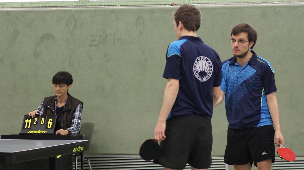 1. Herren: Alex Malik (links) und Sascha Hahn