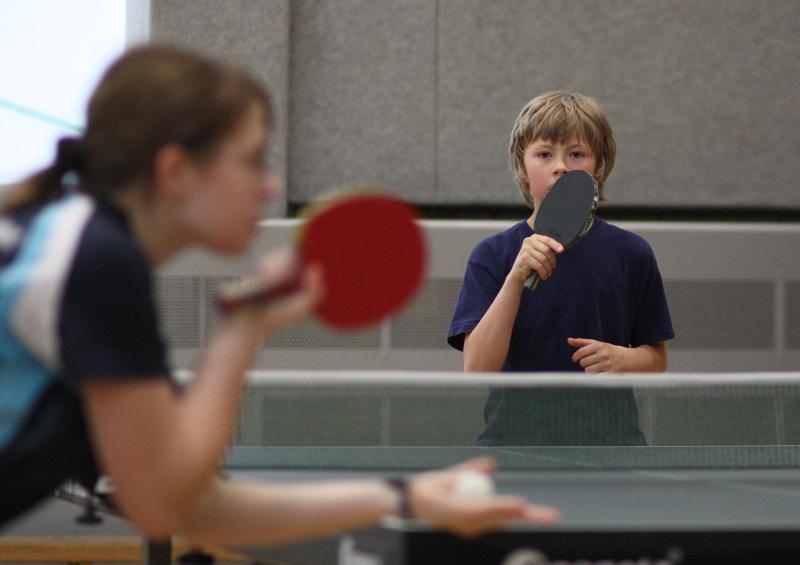 Svenja (3. Platz bei den A-Schüler/innen) und Julien (1. Platz beiden A-Schüler/innen und 3. Platz bei der Jugend)