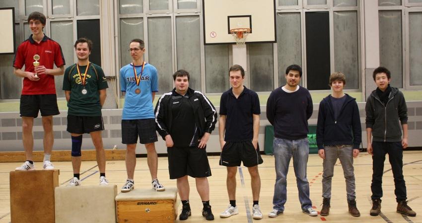 Siegerehrung Vereinsrangliste 2012: Herren