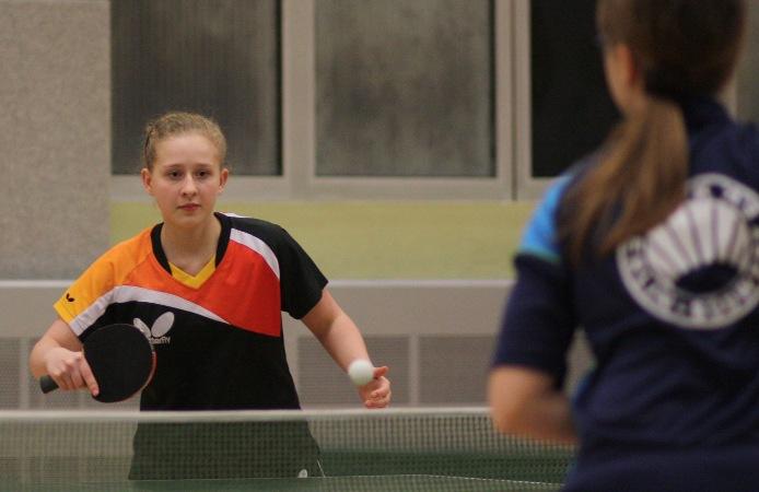 Unsere Mädels waren auch in der Damenmannschaft aktiv, Sophie (hinten) und Svenja (vorne)