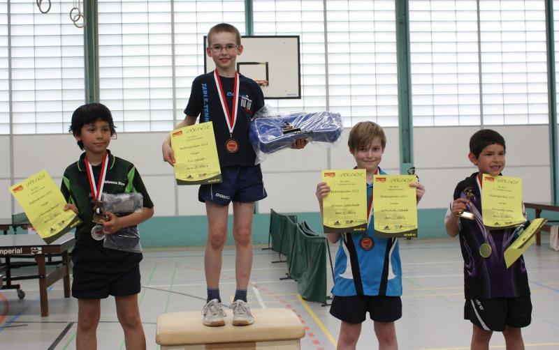 Landesbestenspiele 2012: Siegerehrung C-Schüler