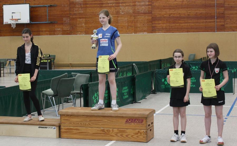 BEM 2012: Siegerehrung B-Schülerinnen Einzel