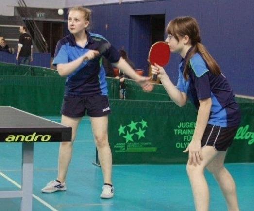 Unsere Schülerinnen-Mannschaft mit Sophie und Svenja.