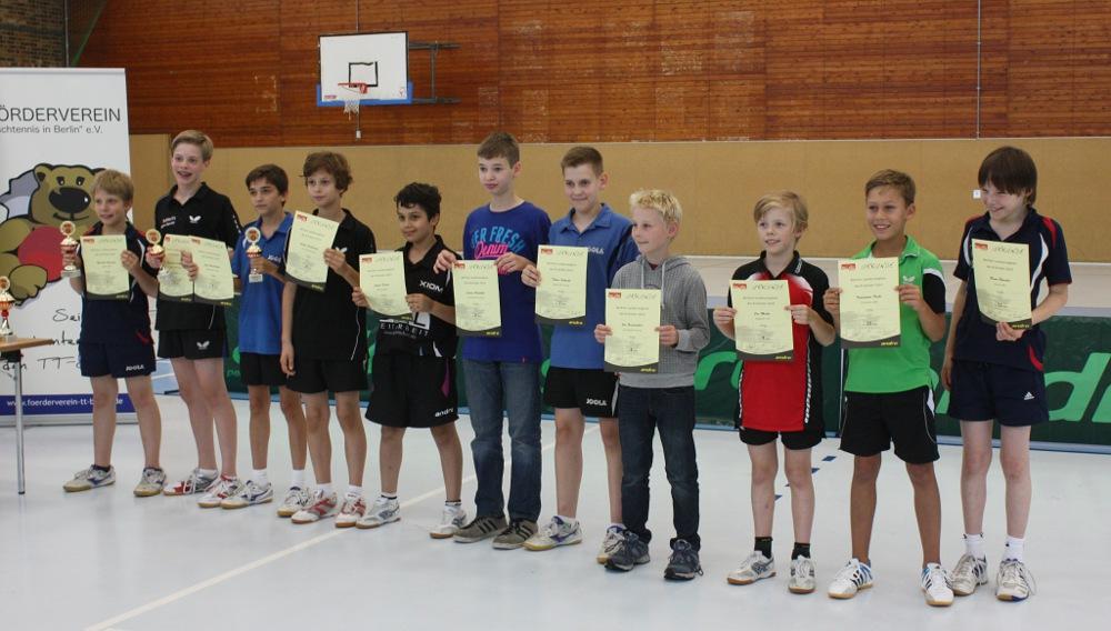 Siegerehrung Landesrangliste der B-Schüler 2014
