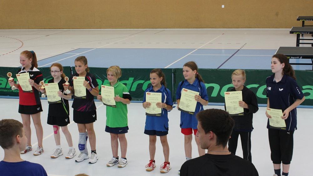 Siegerehrung Landesrangliste der B-Schülerinnen 2014