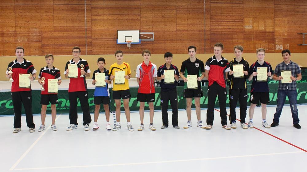 Siegerehrung Landesrangliste der Jungen 2014