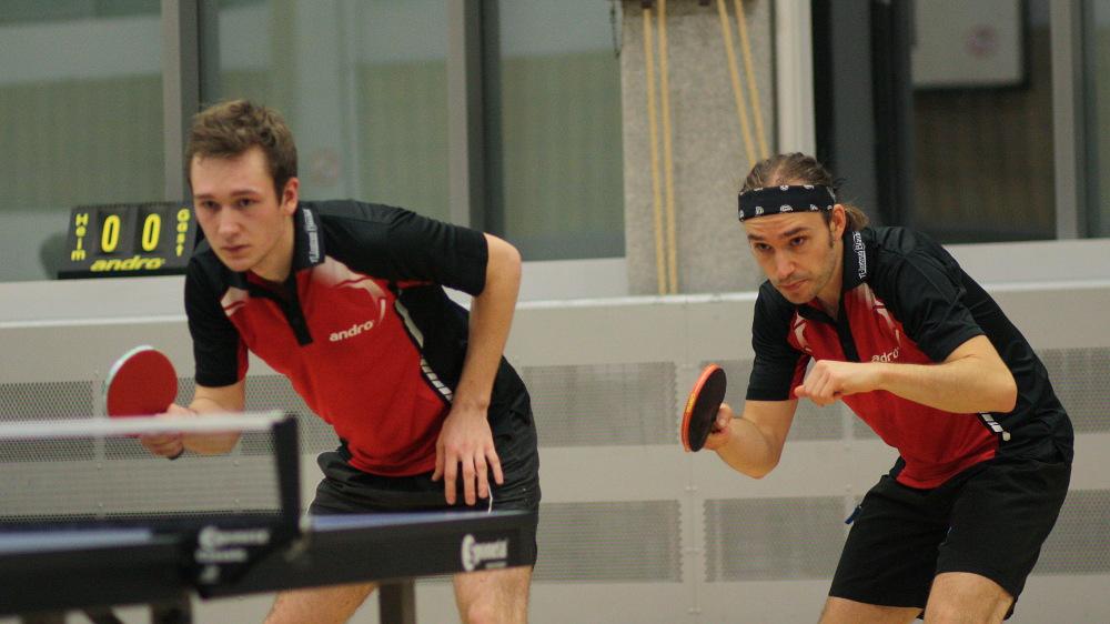Ein Doppel wie eine Bank: Alex und Lennart.