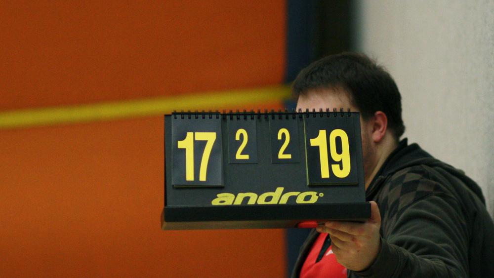 Nach neun abgewehrten Matchbällen endlich die zwei erlösenden Punkte für Marc gegen Blecke