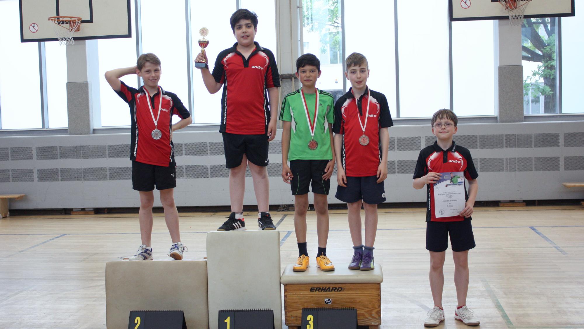 Miguel gewinnt die Vereinsmeisterschaften der B-Schüler, Finn wird Zweiter, Raden und Timo belegen den dritten Platz. Sieger der Trostrunde wurde Valentin.