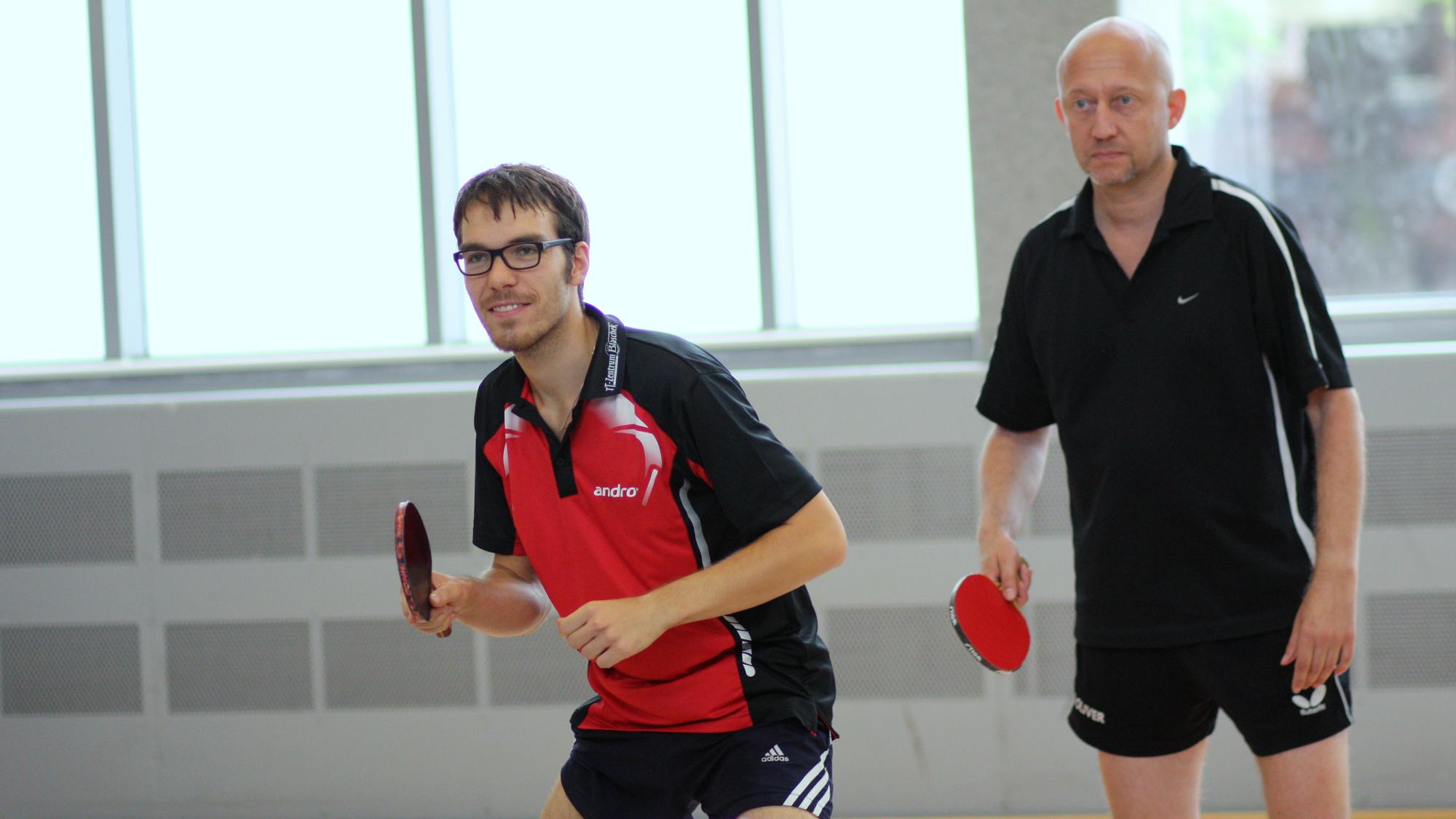 Ramon (links) und Peter: 1:3 gegen Daniel und Tobias im Viertelfinale