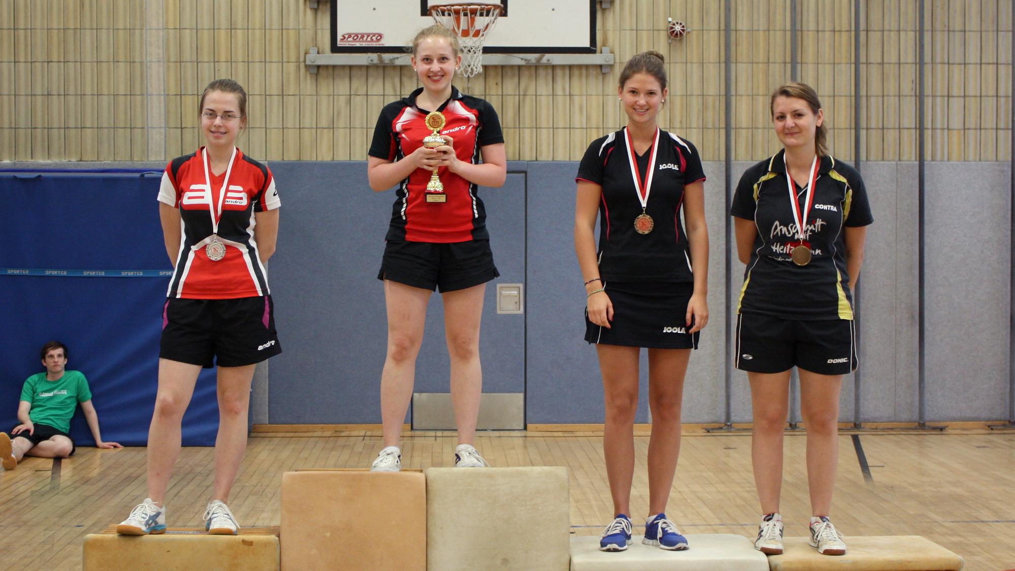 1. Platz Sophie; 2. Platz Svenja; 3. Platz Diana; 4. Platz Alina