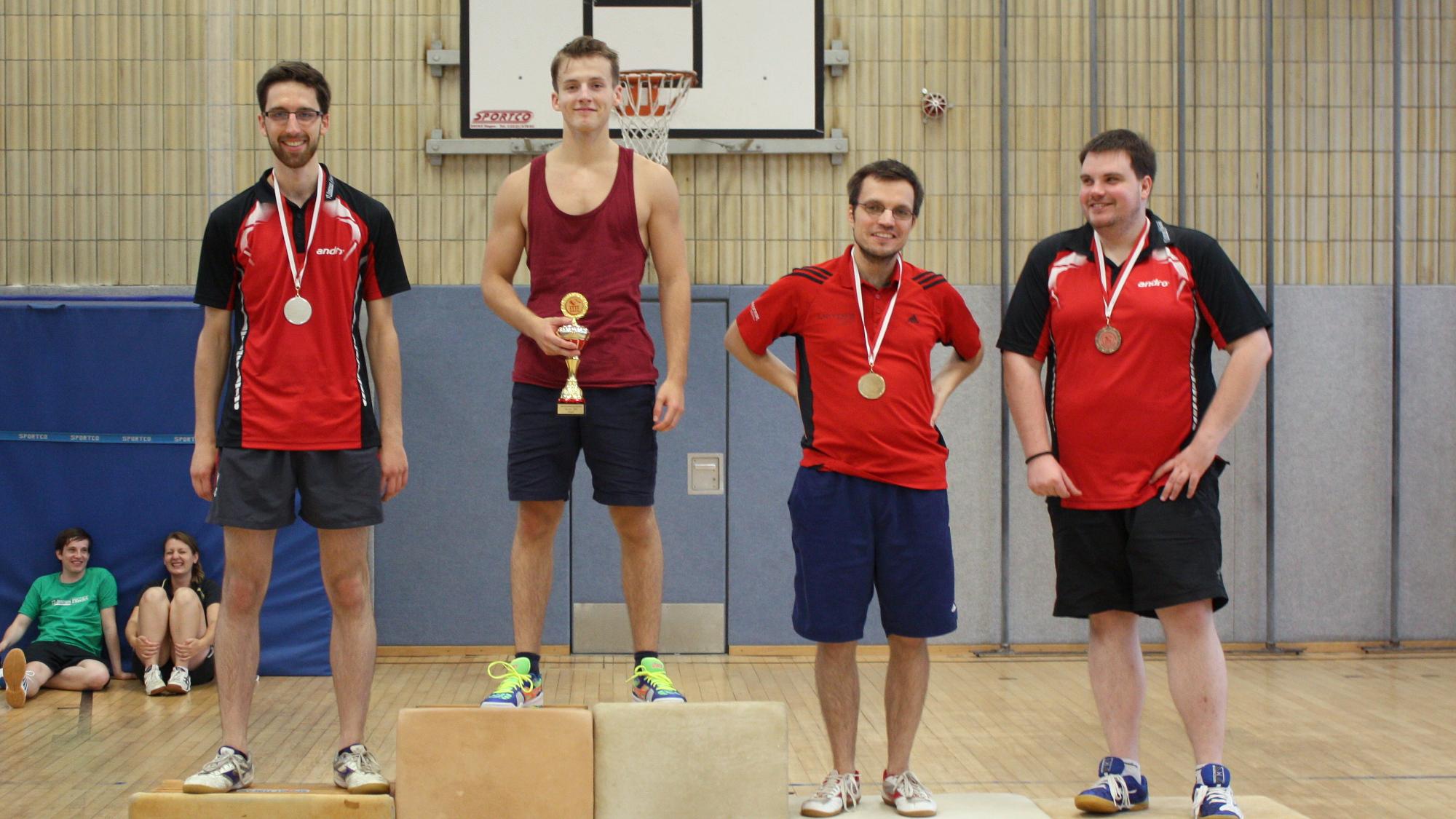 1. Platz Robin; 2. Platz Felix; 3. Platz Sascha und Domenik