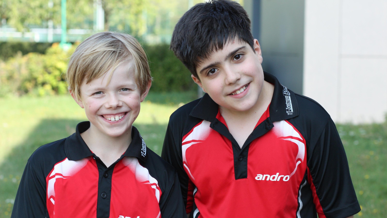 Die beiden STTK-Starter der B-Schüler Rangliste: Jan verpasste den Sprung aufs Treppchen knapp und wurde Vierter, Miguel erreichte den 9. Platz.