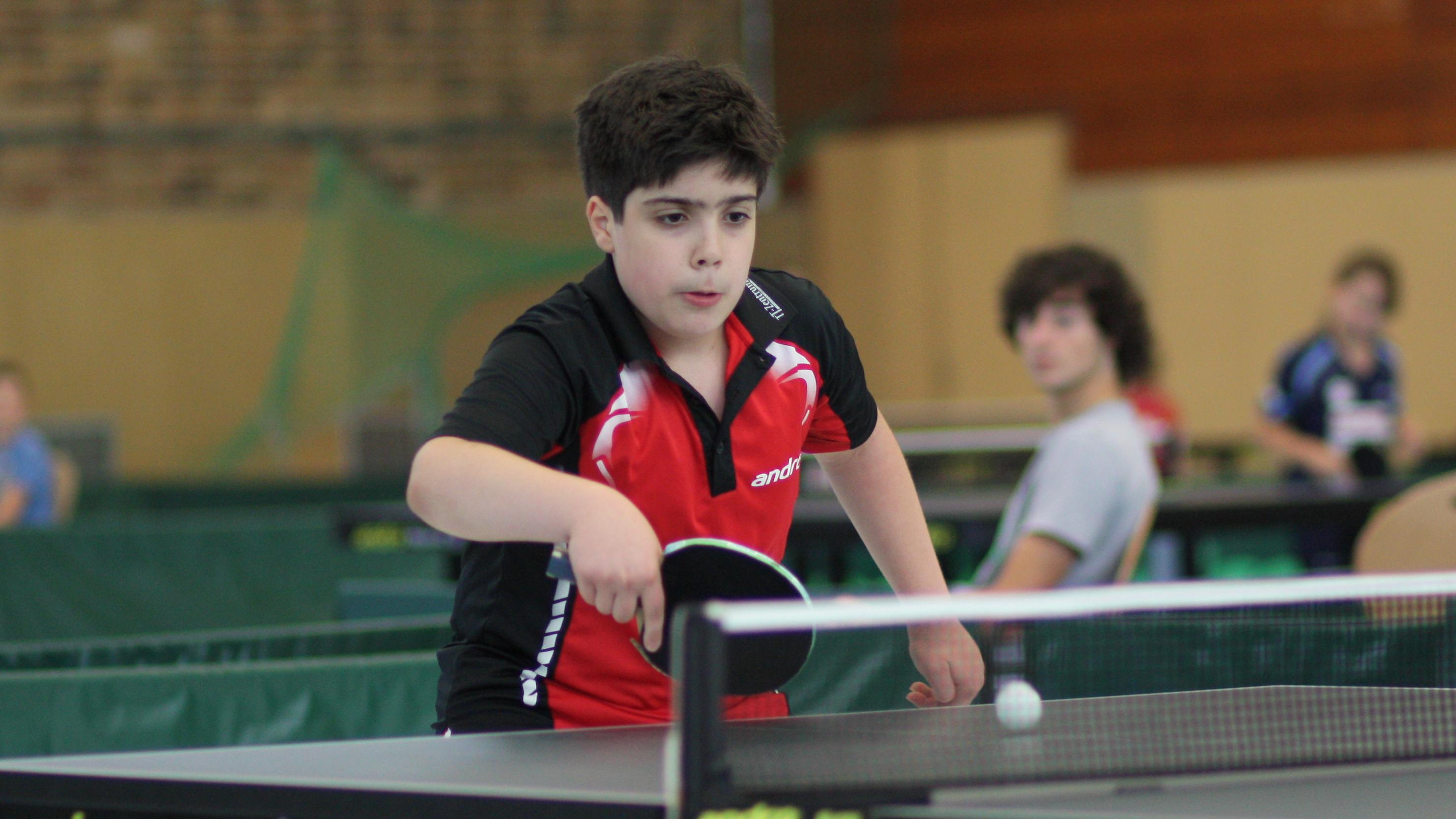 Miguel spielte mit der Landesrangliste sein erstes großes Turnier.