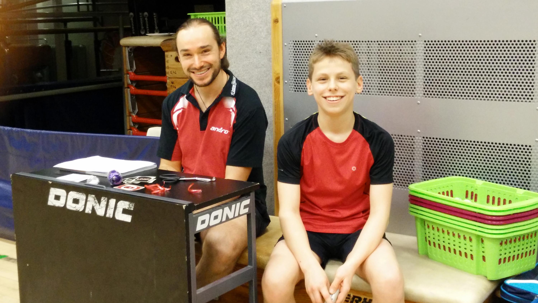 Turnierleitung: Lennart (links) und Finn