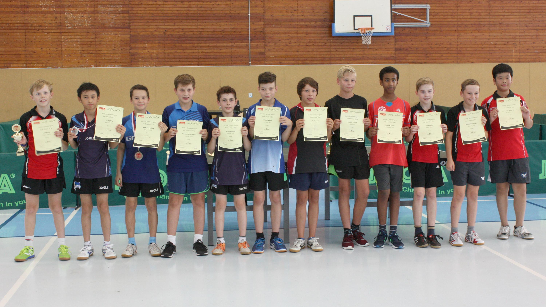 Siegerehrung Landesrangliste B-Schüler 2016