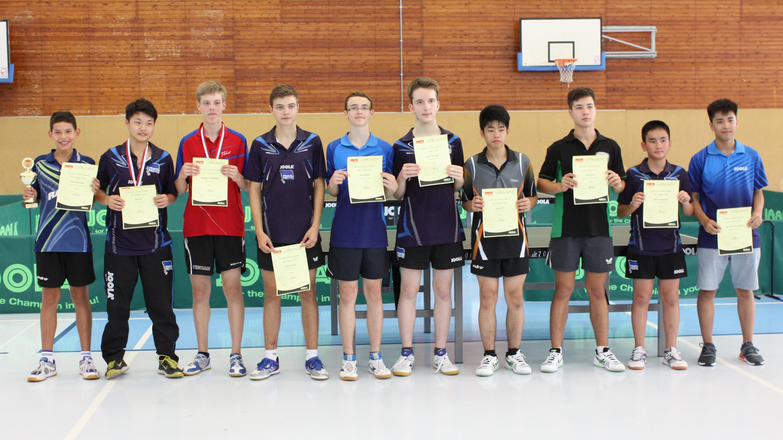 Siegerehrung Landesrangliste Jungen 2016