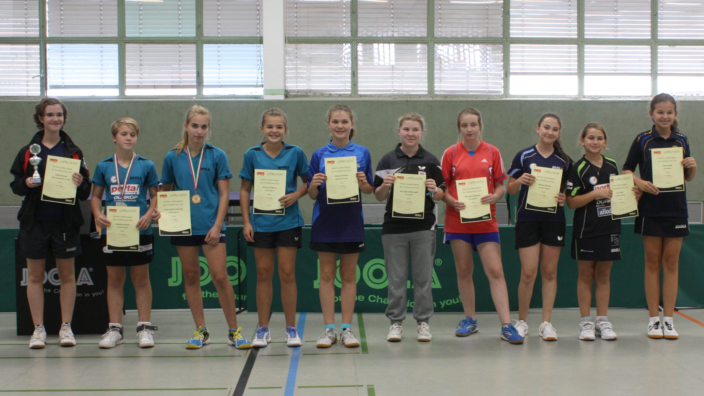 Siegerehrung Landesrangliste A-Schülerinnen 2016