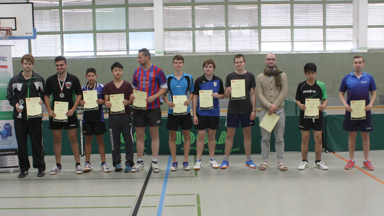 Siegerehrung Landesrangliste Herren 2016