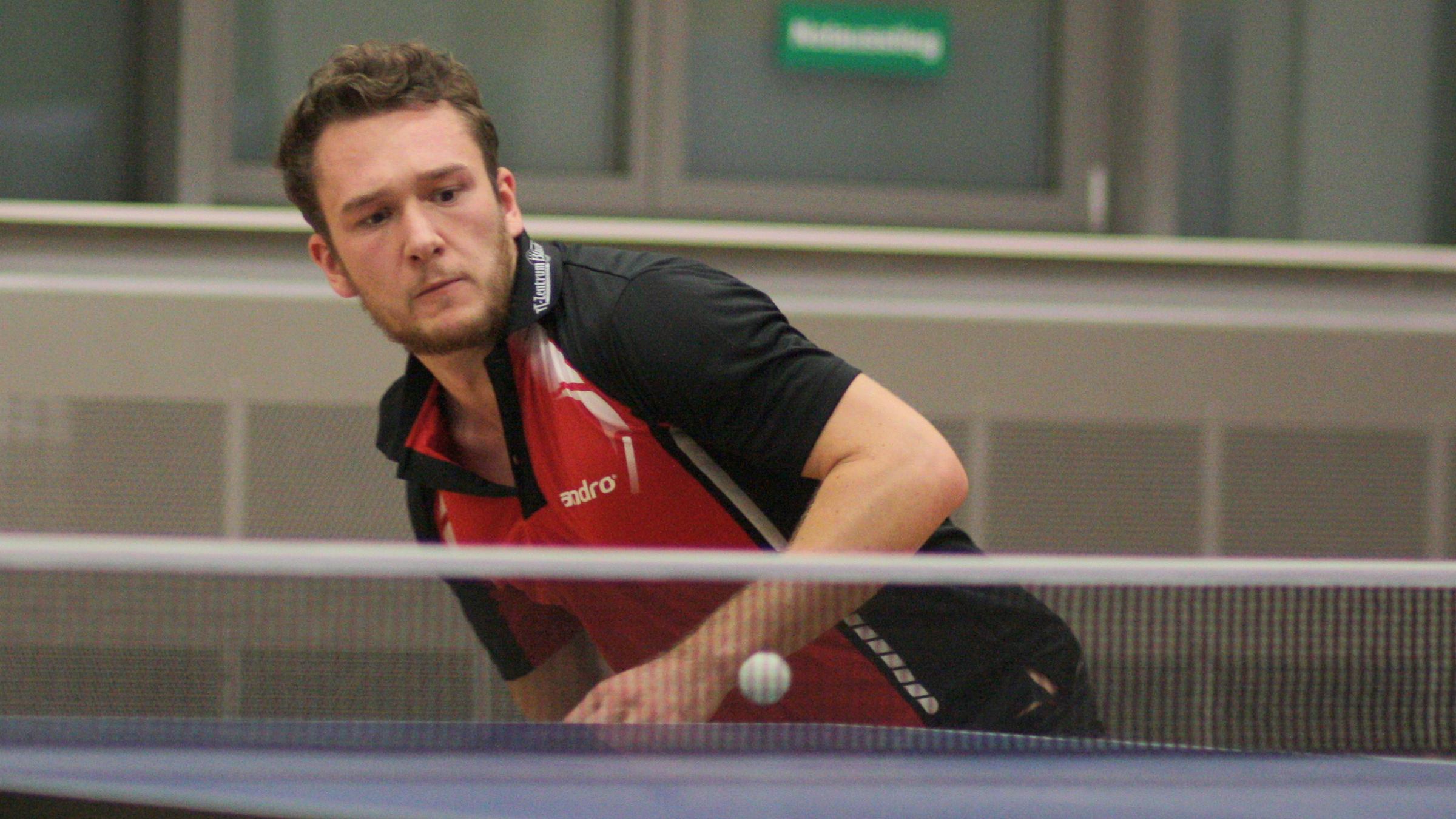 Alex gewann gegen die Füchse das Doppel und beide Einzel (Archivbild, 1.11.16, Spiel gg. TuSLi)
