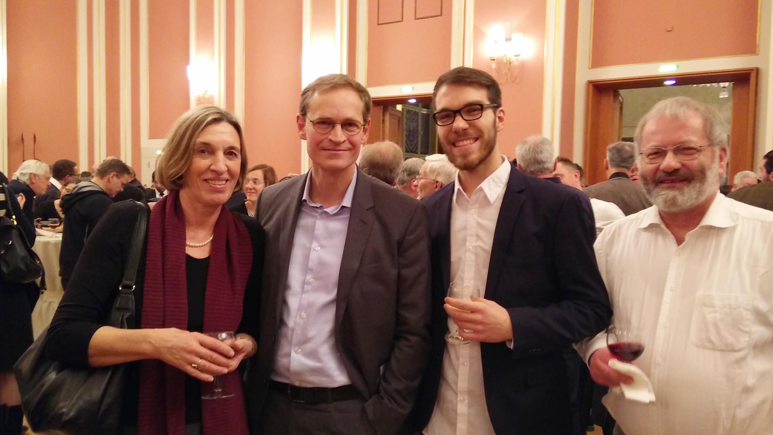 Margrit, Regierender Bürgermeister Müller, Ramon, Christian (von links)