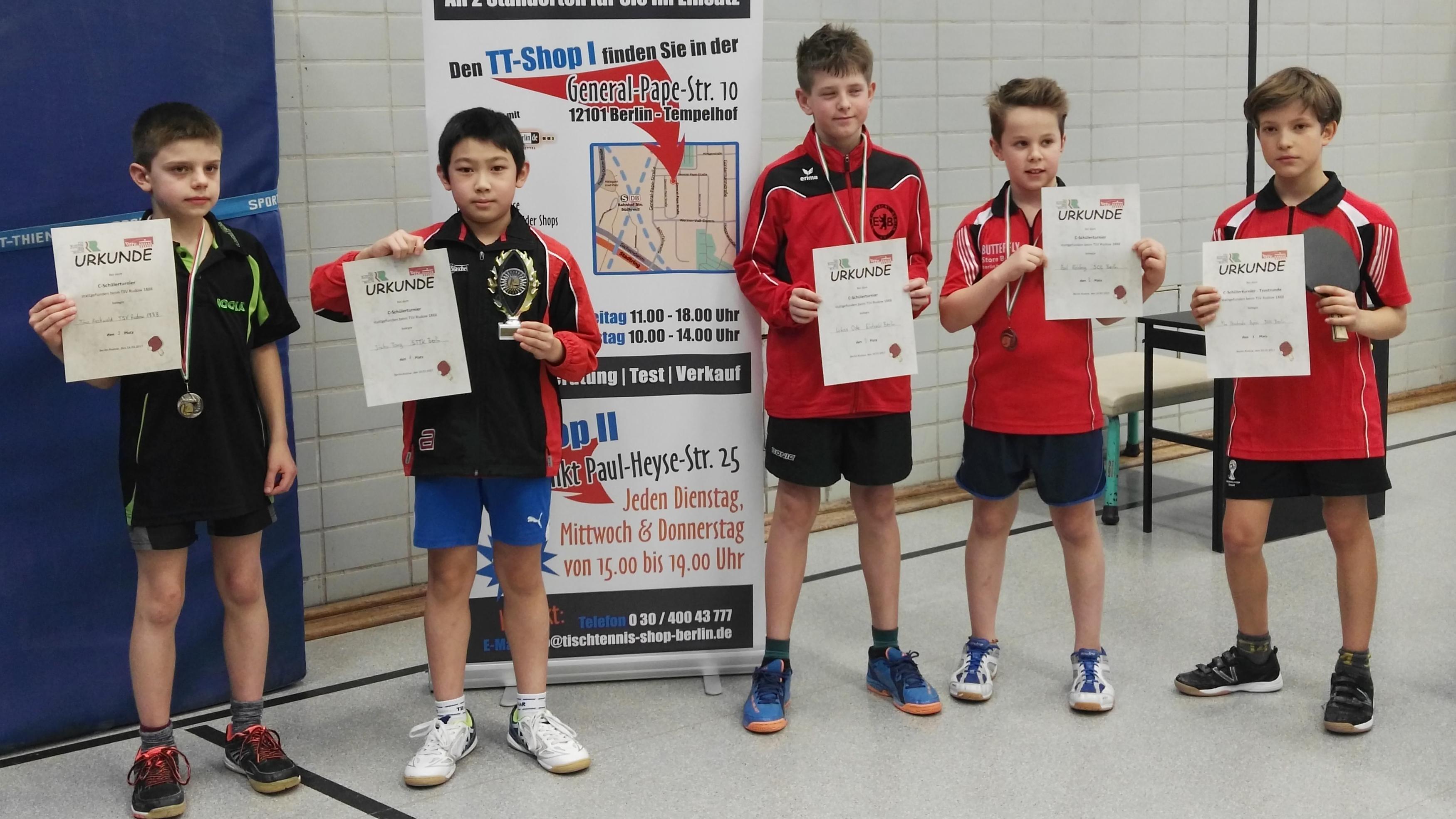 Siegerehrung C-Schüler-Turnier (Foto: Tong)