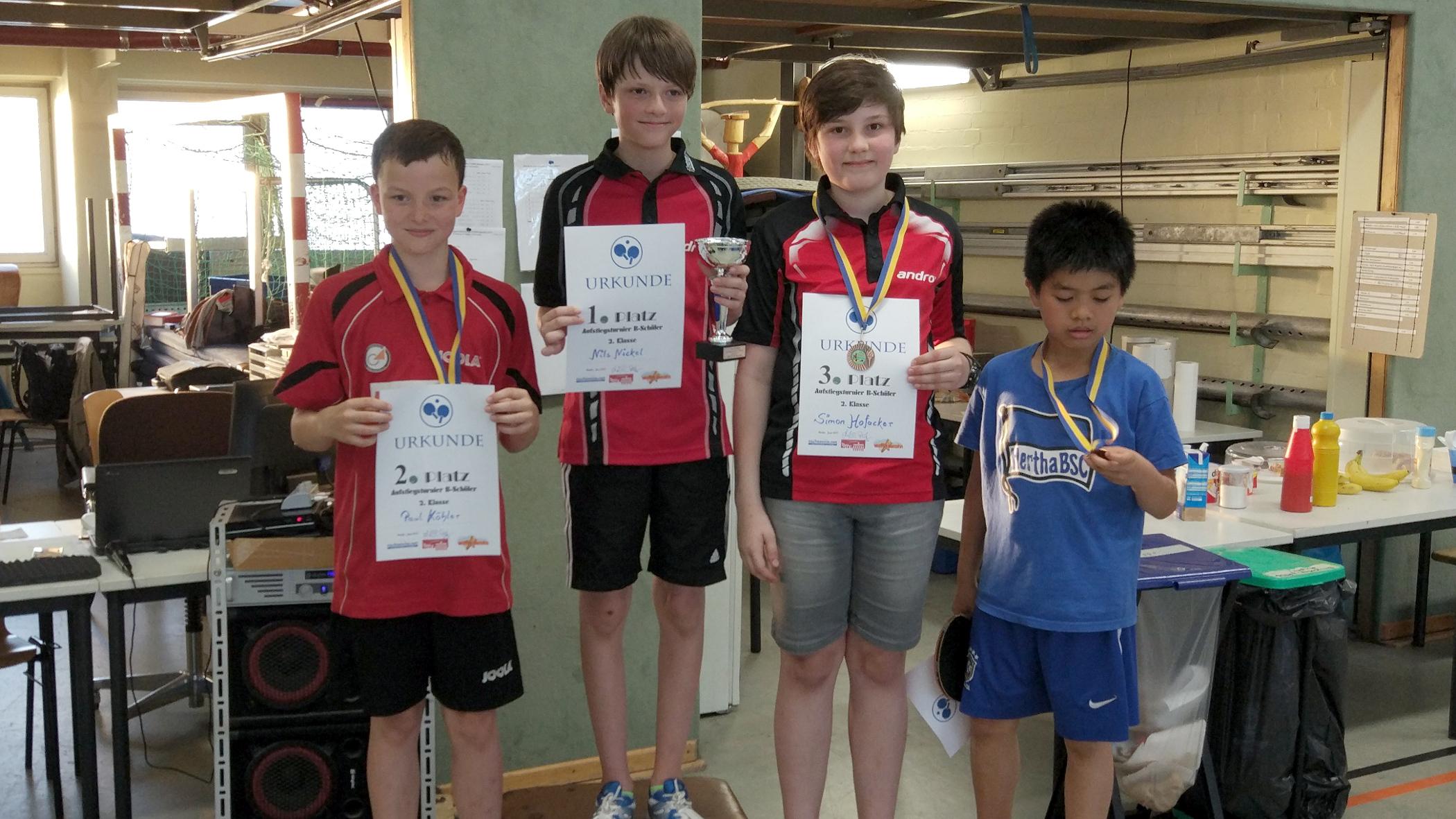 Im Aufstiegsturnier der 2. Klasse B-Schüler erreichte Simon den dritten Platz und durfte somit mit einer Bronzemedaille nach Hause fahren.