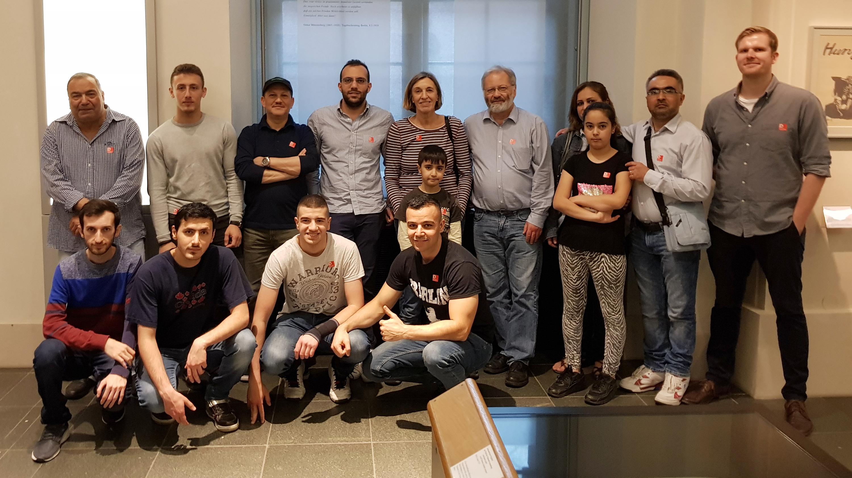 Mit der Flüchtlingsgruppe im Deutschen Historischen Museum (Foto: privat)