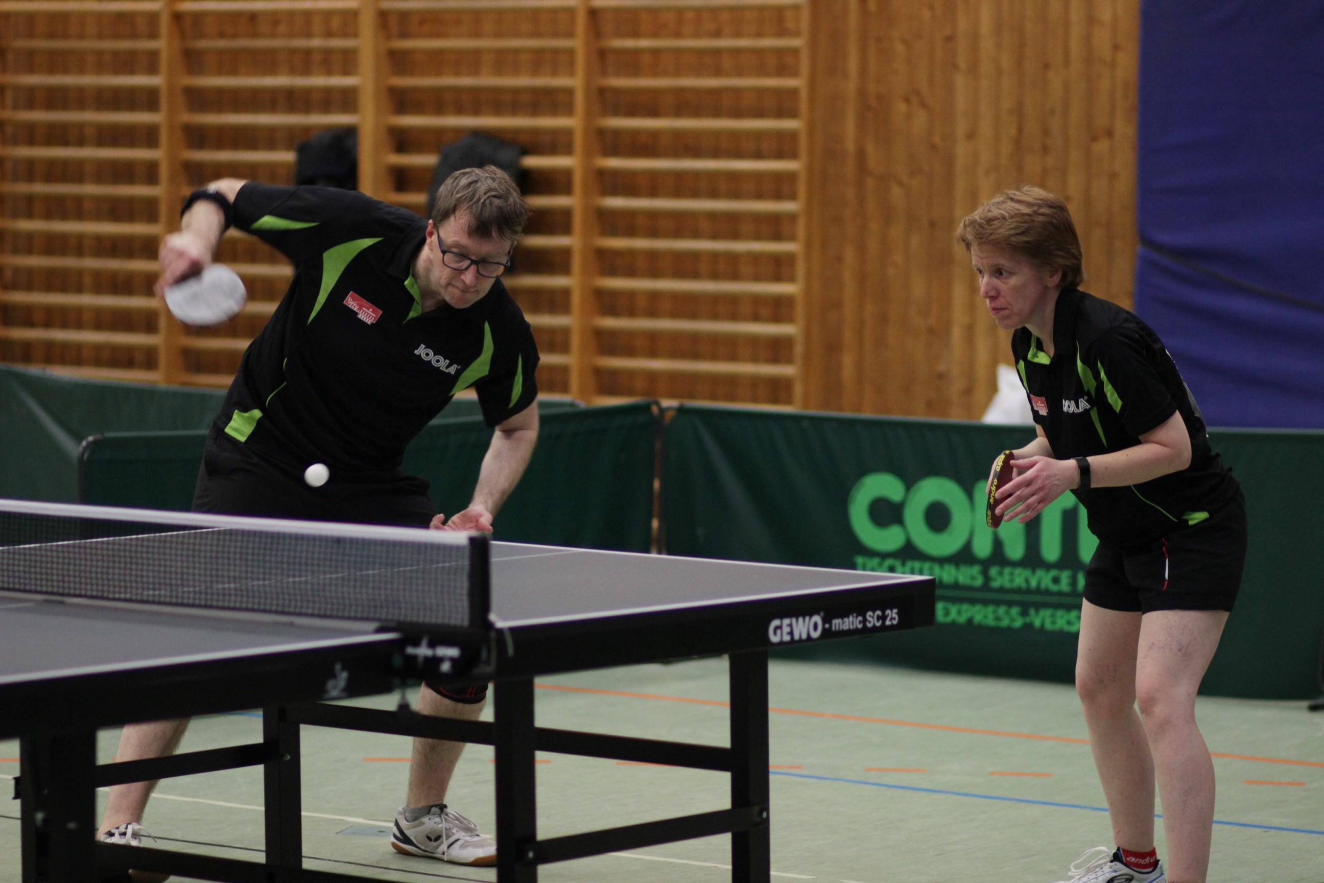 Im Mixed Ü 40 mit Bratvogel erreichte Thomas das Viertelfinale.