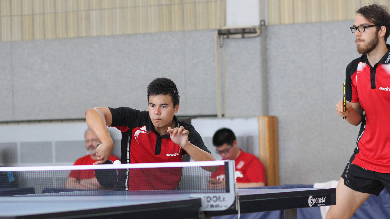 Marc (links) und Ramon: 3. Platz im Doppel bei den Erwachsenen