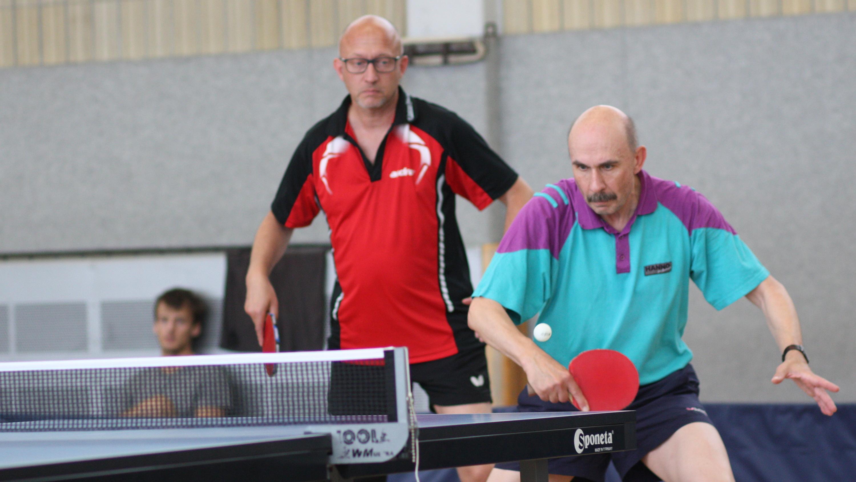 Peter (links) und Martin E.: 2. Platz im Doppel bei den Erwachsenen