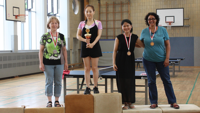Siegerehrung Vereinsmeisterschaften der Erwachsenen Damen Einzel