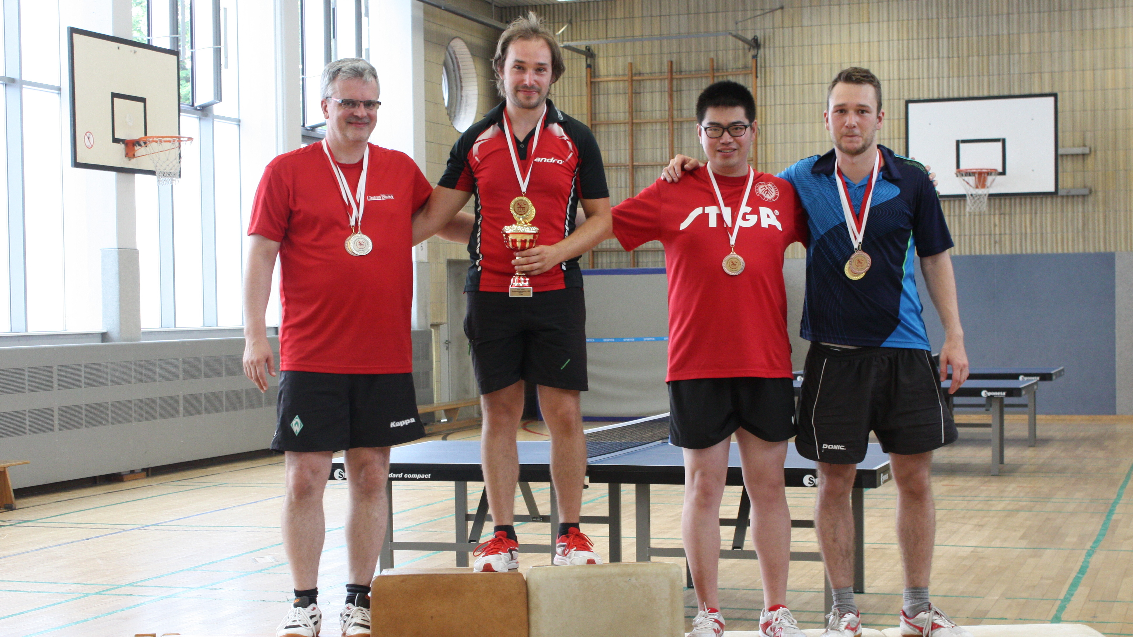 Siegerehrung Vereinsmeisterschaften der Erwachsenen Herren Einzel