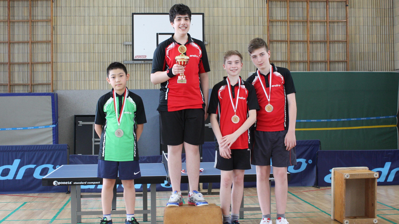 Siegerehrung Vereinsmeisterschaften A-Schüler