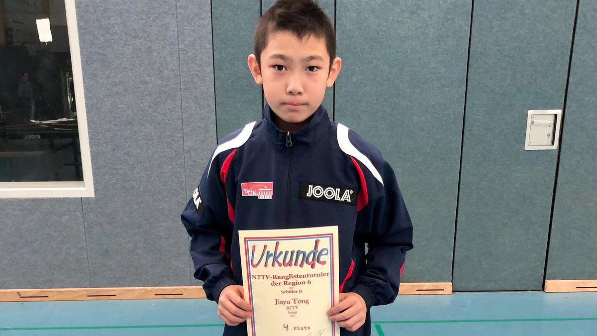 Jiayu belegte den 4. Platz bei der NTTV-B-Schüler-Rangliste (Foto: C. Schmidt)