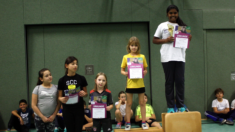 Siegerehrung mini-Meisterschaften Ortsentscheid Mädchen 2006 und jünger