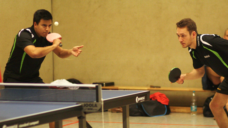 Marc (links) und Alex beim Spiel gegen OTTO I