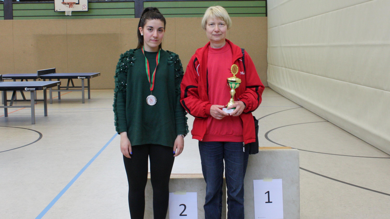 Siegerehrung Damen: 1. Ina, 2. Didem, 3. Petra (nicht im Bild)