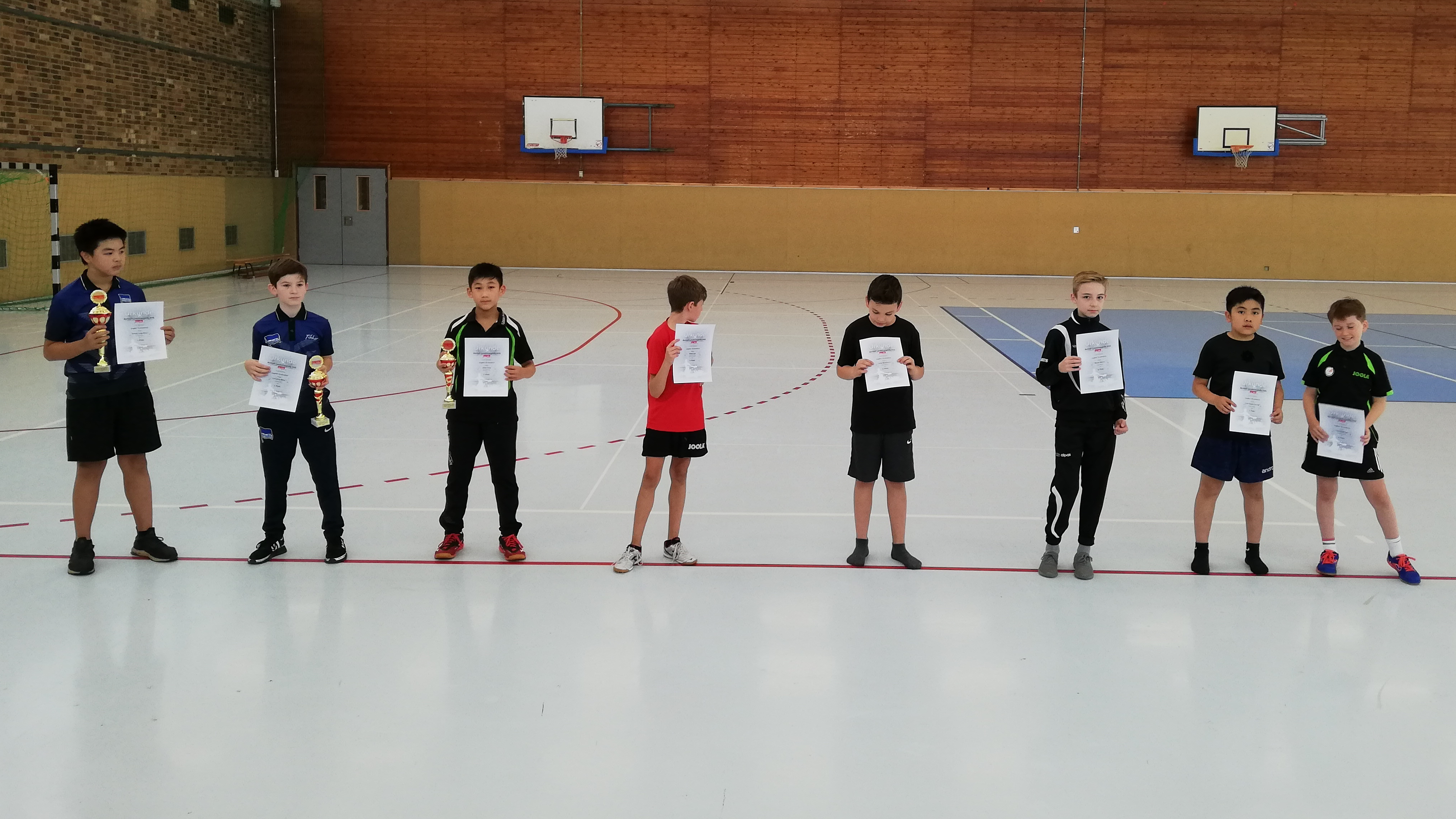 Siegerehrung Landesrangliste 2020 Jungen 13