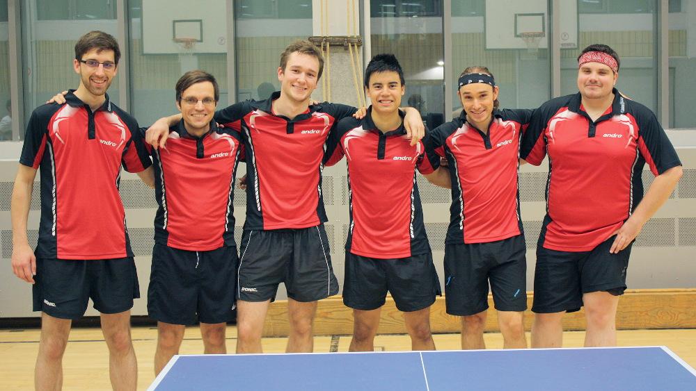 Jedes Spiel ist eine Teamleistung (v.l.n.r.: Felix, Sascha, Alex, Marc, Lennart, Domenik)